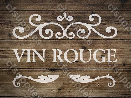 Vin Rouge Shabby Chic Mylar Stencil