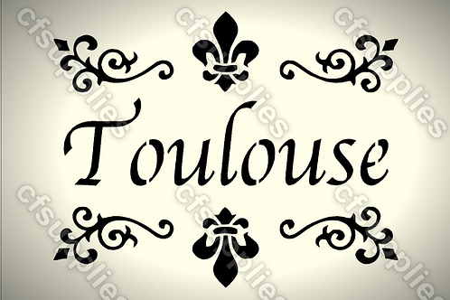 Toulouse Shabby Chic mylar stencil