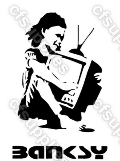 Banksy Mylar Stencil
