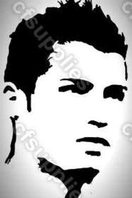 Ronaldo, Real Madrid Mylar Stencil