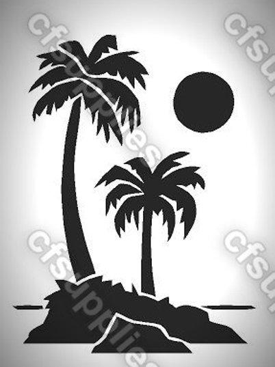Palm Trees Mylar Stencil Sheet