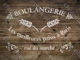 Boulangerie Shabby Chic French Vintage Mylar Stencil
