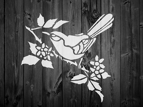 Bird Shabby Chic mylar stencil