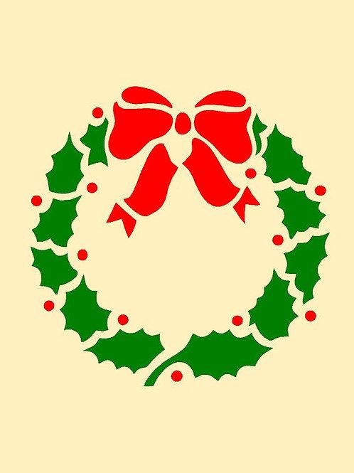 Christmas Holly Mylar Stencil Sheet