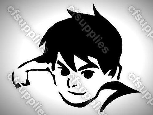 Ben 10 Mylar Stencil Sheet Design.