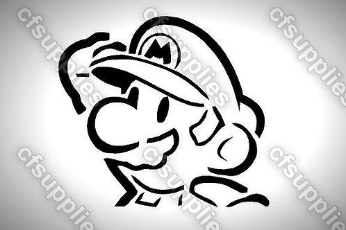 Super Mario Mylar Stencil Sheet