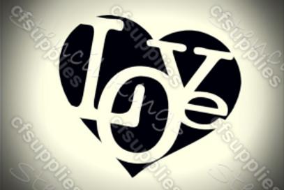 Love Shabby Chic French Vintage Mylar Stencil