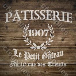 Patisserie Shabby Chic French Vintage Mylar Stencil