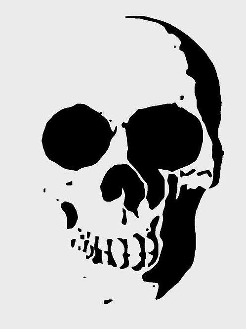 Skull Mylar Stencil
