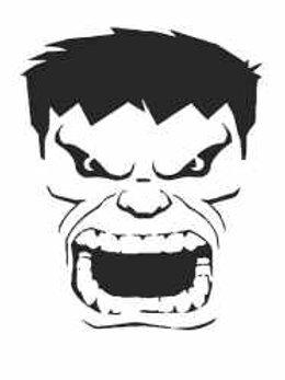 The Hulk Mylar Stencil