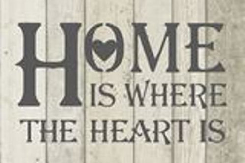 Home is where the heart is Shabby Chic mylar stencil