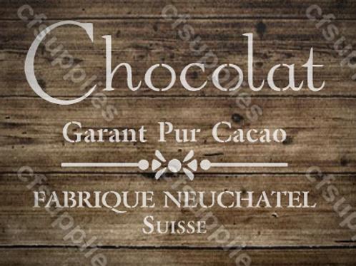 Chocolat French vintage Shabby Chic Mylar Stencil