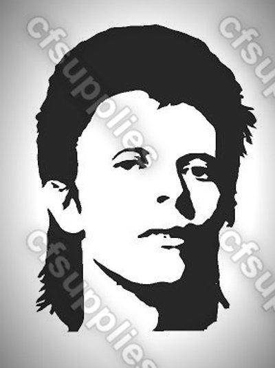 David Bowie Mylar Stencil Sheet Design.