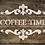 Coffee Time French vintage Shabby Chic Mylar Stencil