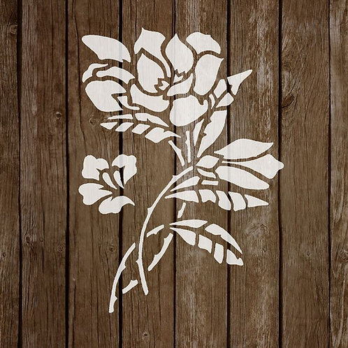 Flower Mylar Stencil 125/190 micron in A5/A4/A3 sizes (F11)