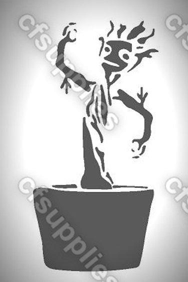 Groot, Marvel Mylar Stencil Sheet Design.