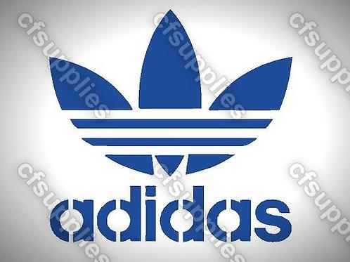 Adidas Logo Mylar Stencil Sheet Design.