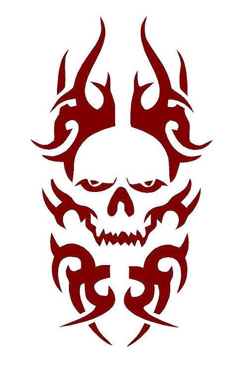Celtic Skull Mylar Stencil