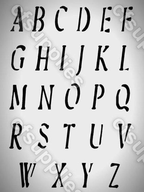 Shabby Chic Alphabet Mylar Stencil