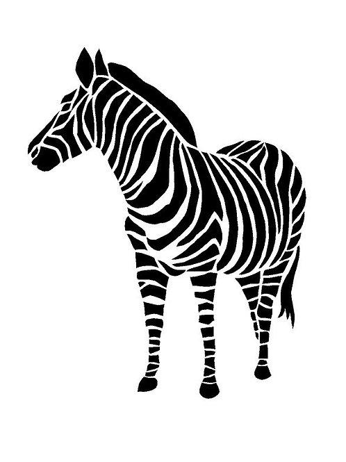 Zebra  Mylar Stencil sheet