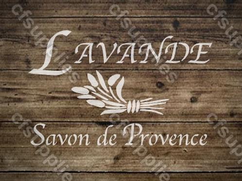 Lavande French vintage Shabby Chic Mylar Stencil