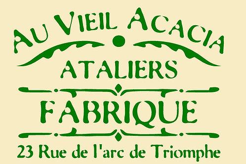 Shabby Chic French Vintage Mylar Stencils