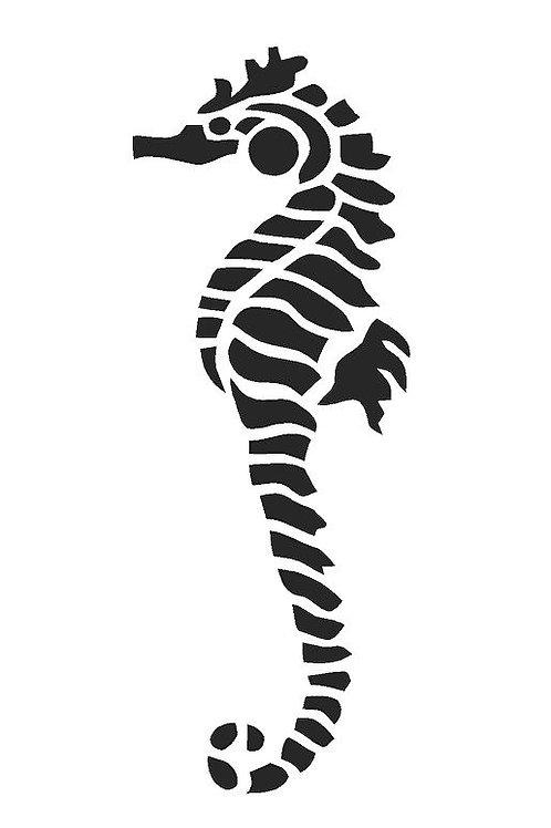 Seahorse mylar stencil 125/190 micron in A5/A4/A3 sizes