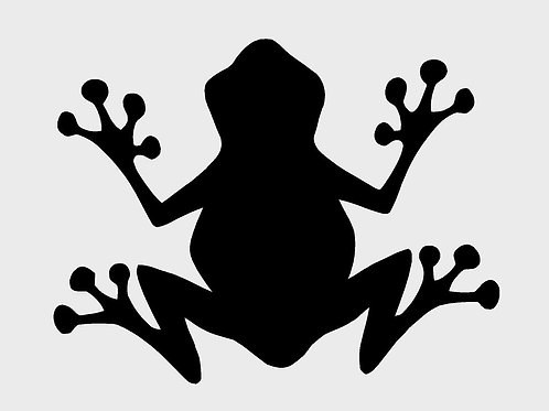 Frog mylar stencil 125/190 micron in A5/A4/A3 sizes