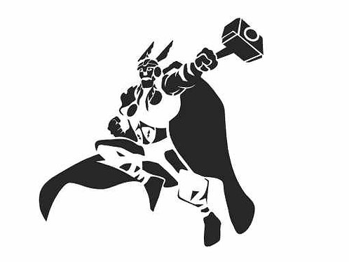 Thor Mylar Stencil