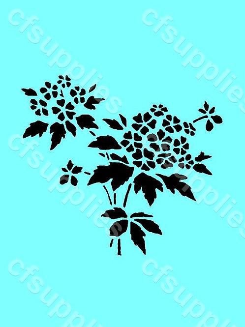 Flower Mylar Stencil 125/190 micron in A5/A4/A3 sizes (F28)