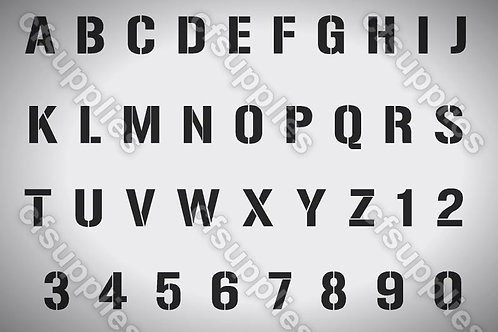 Alphabet stencil from Mylar