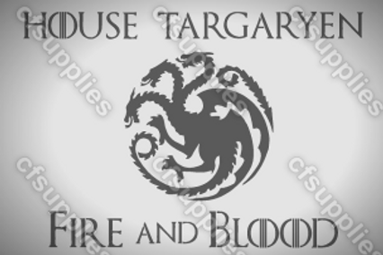 House Targaryen Game of Thrones Mylar Stencil