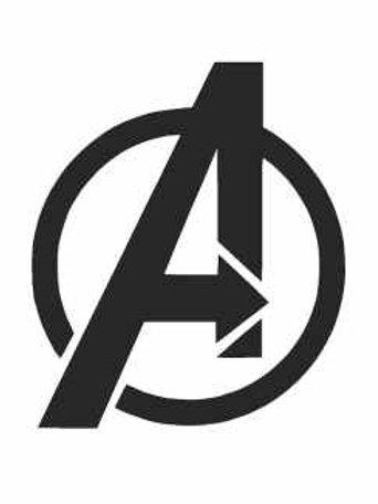 Marvel Avengers Logo Mylar Stencil