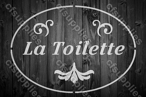La Toilette Shabby Chic Mylar Stencil