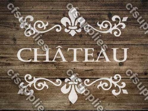 Chateau Shabby Chic mylar stencil