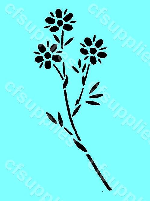 Flower Mylar Stencil 125/190 micron in A5/A4/A3 sizes (F24)