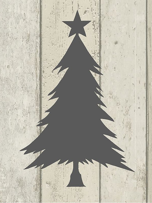Christmas Tree Mylar Stencil Sheet