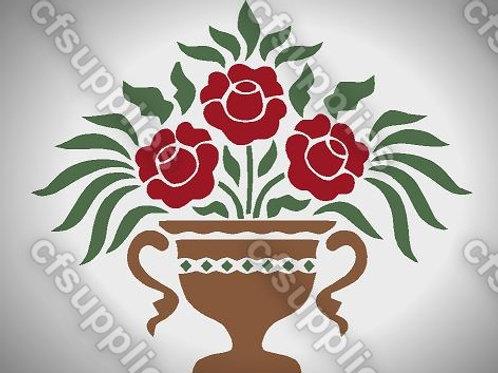Rose Urn Mylar Stencil Sheet