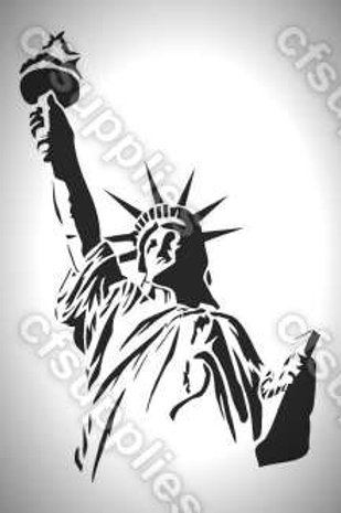 Statue of Liberty Mylar Stencil
