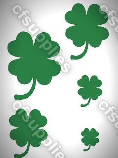 Clovers Mylar Stencil Sheet Design.