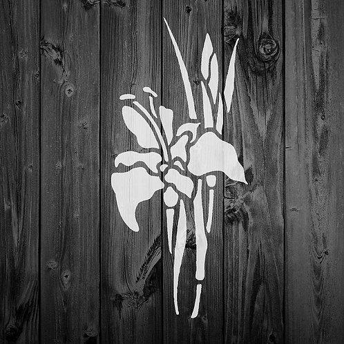 Flower Mylar Stencil 125/190 micron in A5/A4/A3 sizes (F7)