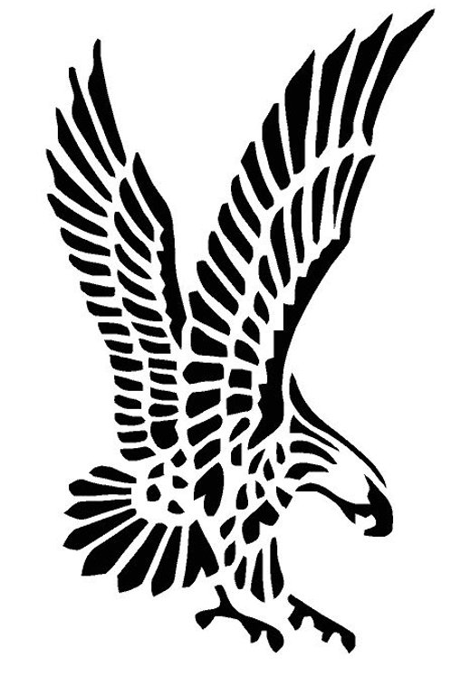 Eagle Flying mylar stencil 125/190 micron in A5/A4/A3 sizes (1)