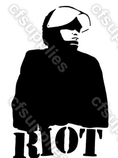 Banksy Riot Cop Mylar Stencil
