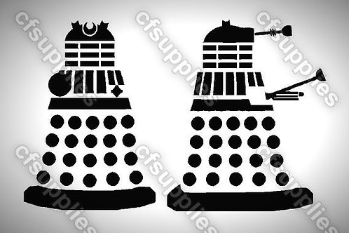Daleks Mylar Stencil Sheet Design.