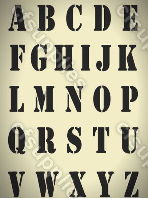 Uppercase Alphabet Mylar Stencil