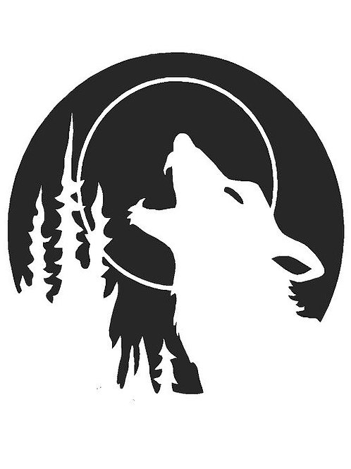 Howling Wolf mylar stencil 125/190 micron in A5/A4/A3 sizes
