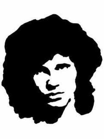 Jim Morrison Mylar Stencil