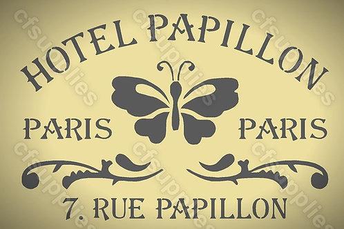 Hotel Papillon Shabby Chic mylar stencil