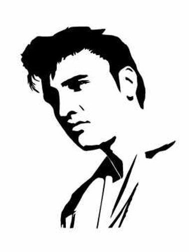 Elvis Mylar Stencil