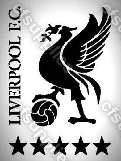 Liverpool FC Mylar Stencil Sheet